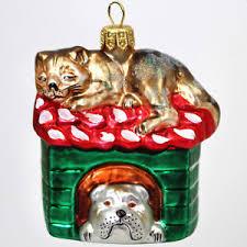 Details Zu Christbaumschmuck Glasfigur Tier Glastier Katze Hund Weihnachtsdeko Glas