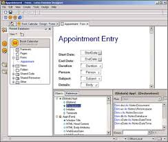 notes form building lotus notes domino calendar applications