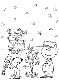 Small Picture Charlie Brown and Christmas coloring pages for kids printable