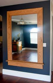 our redone oversized craftsman style oak mirror