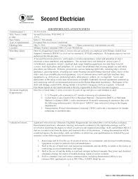 Example Of Electrician Resume Electrician Duties Simple Free Sample ...