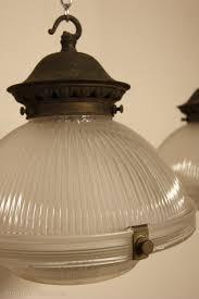 pair of english antique holophane light ings