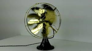 1917 circa 12 emerson antique oscillating desk fan by vintagefans com