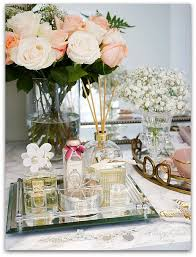 Bathroom Vanity Tray Decor Adding Glam to Your Boudoir a Blog Hop Perfume display Vanity 38