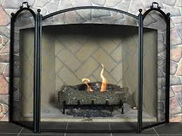 folding fireplace screens