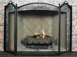 folding fireplace screens