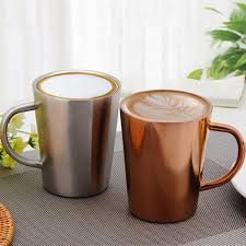 big mugs online. Contemporary Online Stainless Steel Coffee Mugs Milk And Thickened Double Wall Tea Cups  Big Travel Mug Camping With Handle 350ml Customized Online  For