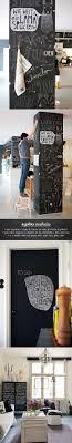 blackboard paint - chalk on bookcase!