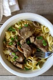 recipe for slow cooker beef stroganoff