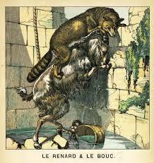 Coloriage Le Renard Et Le Bouc