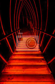 Leer • neu • unmodern • dunkel • teuer • laut • kalt • klein. Rote Treppe Abwarts Ins Dunkel Fototapete Fototapeten Hades Unterwelt Gangway Myloview De