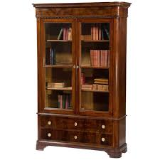 nice storage cabinet with glass doors and drawers furniture brown wooden book storage cabinet with glass