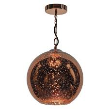 speckle electroplated copper pendant
