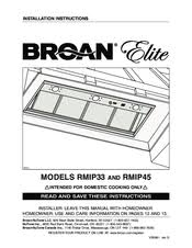 broan elite rmip45 manuals broan elite rmip45 installation instructions manual