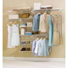 rubbermaid 36 in d x 72 in w x 2 in h configurations custom metal closet system 3 6 ft white deluxe kit