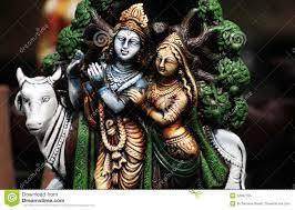 Closeup Of Hindu Gods Krishna And Radha ...