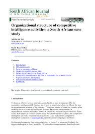 Organizational Chart Of Multinational Company Pdf Du Toit A S A Muller M L 2004 Organizational