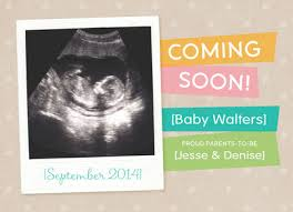 Baby Announcement Cards Coming Soon Baby Announcement