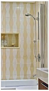 ark showers semi frameless bathtub shower screen pivot door 60 x 30