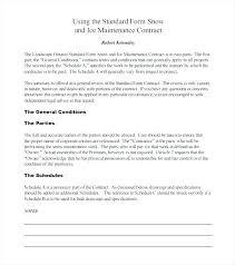 Commercial Maintenance Contract Template Hvac Agreement Forms Unique