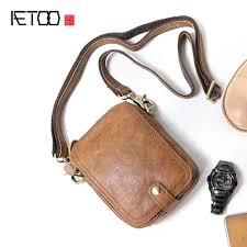 <b>AETOO Handmade Men</b> '<b>s</b> Bags Shoulder Small Sacks Outdoors ...