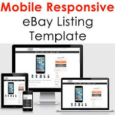Listing Template Ebay Listing Template Mobile Responsive Auction Compliant 2019