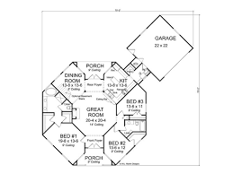 Floor Plan Hexagon House - Contemporary Home, 059H-0142 ...