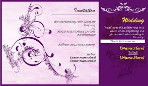 professionally design wedding card template wedding invitation Free Online Indian Wedding Invitation Cards Templates professionally design wedding card template wedding invitation card designs professionally design wedding card elegant purple swirl curve design free online indian wedding invitation templates