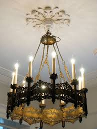 good quality c19th french 10 light gothic chandelier