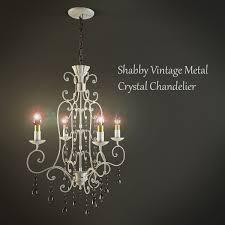 shabby vintage metal crystal chandelier 3d model in ceiling lights 3dexport