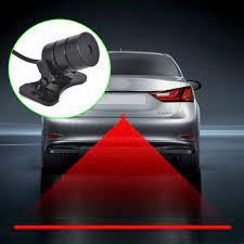 Araba lazer kuyruk sis işık Anti çarpışma araba forlight lamba fren park  sinyal uyarı lambaları evrensel LED arka araba sis işık Decorative Lamp
