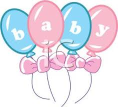 And Pink Baby Shower Balloons  Royalty Free Clipart PictureBaby Shower Pictures Free