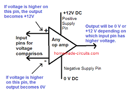 Op Amp Comparator How To Use An Op Amp As A Comparator Circuit Homemade