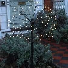 solar dandelion starburst garden light