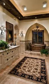 Old World, Mediterranean, Italian, Spanish & Tuscan Design & Decor Master  Bath #