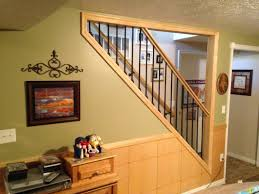 Unfinished Basement Stairs Design Fancy Unfinished Basement Ideas - Painted basement ceiling ideas