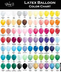 Sempertex Balloon Color Chart Pin On Hosting
