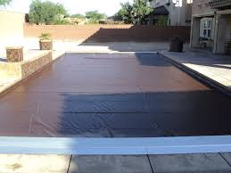 automatic pool covers for odd shaped pools. Recessed Automatic Cover System With A Brown Pool Covers For Odd Shaped Pools