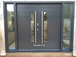 contemporary front doors oak iroko and