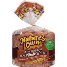 nature s own 100 whole wheat hot dog rolls 8 ct bag