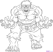Hulk Very Angry Coloring Pages For