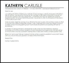Letter Of Recomendation Example Dental Assistant Recommendation Letter Pohlazeniduse