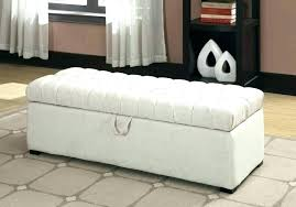 fabric ottoman with storage brown great bedroom bench furniture dark white
