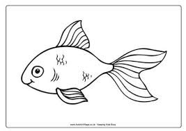 Small Picture Goldfish Colouring Pages