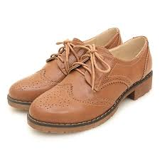 brown leather lace up vintage womens oxfords flats shoes 800x800 jpg