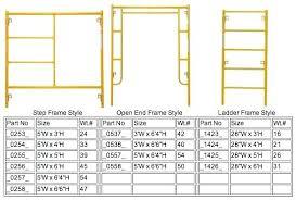 Step Ladder Size Chart Standard Ladder Sizes 404academy Co