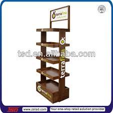 Coffee Shop Display Stands Tsdw40 Custom Supermarket Pos Floor Standing Wooden Snack 1