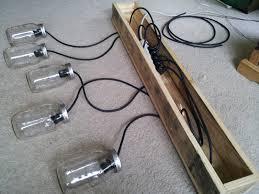 homemade lighting fixtures. Mason Jar Rustic Pallet Light Fixture Diy Ceiling Lights Homemade Lighting Fixtures D
