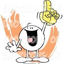 sports fan clipart. clip art vector of a cheerful moodie character sports fan clipart