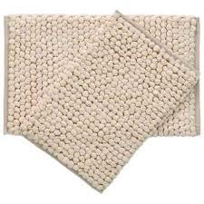 element beige paper chindi cotton bath rugs set of 2 in beige
